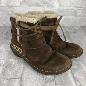 Ugg // Brown Cove Suede/Shearling Boots